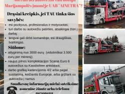 Autovežio vairuotojo darbas (2)