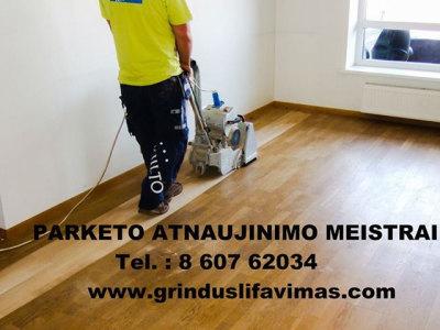 Parketo atnaujinimo meistrai grindų šlifavimas (1)